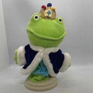 Frog Prince Hand Puppet Vintage Pretend Toy